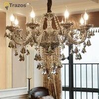 Роскошные хрустальная люстра для гостиная блеск сала де янтар cristal современные люстры светильник Свадебные украшения
