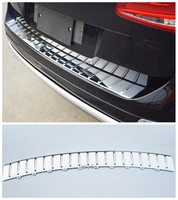 Fit For Volkswagen Touareg 2011 2012 2013 2014 2015 2016 2017 ABS Chrome Rear Bumper Protector Sill Trunk Tread Plate