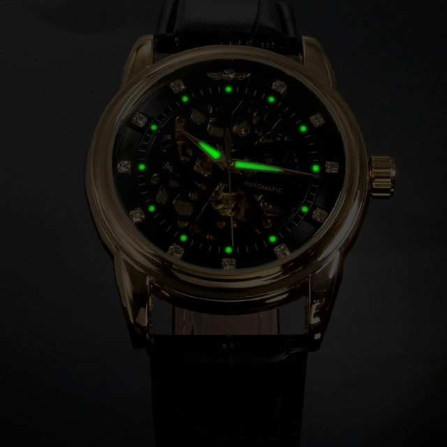 Luxury Black Gold Mechanical Watch