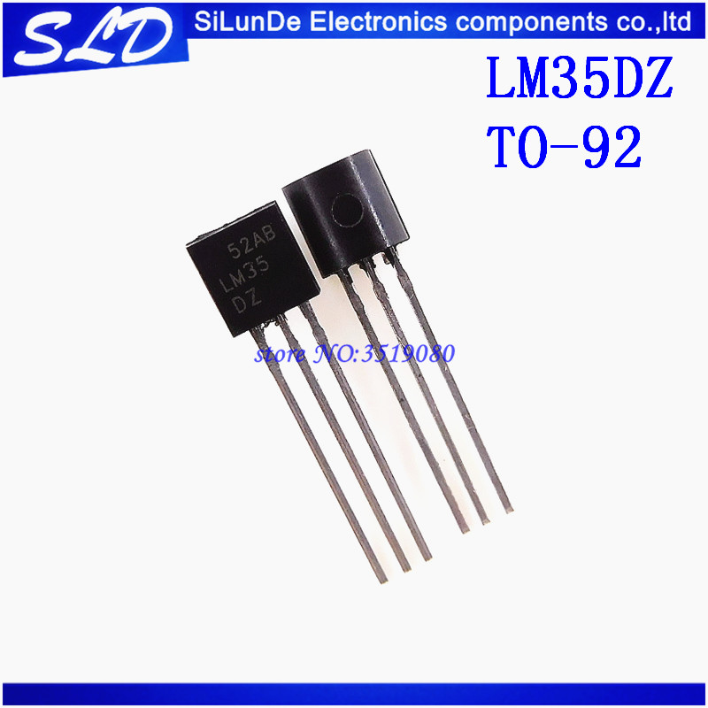 Free Shipping 100pcs lot LM35DZ TO92 LM35 TO 92 LM35D Precision Centigrade Temperature Sensors