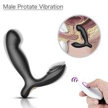 купить Anal Plug Vibrator Prostate Massager Wireless Heating 10 Modes Butt Plug Sex Toys for Men Masturbator Adult Toys for Male по цене 1876.43 рублей