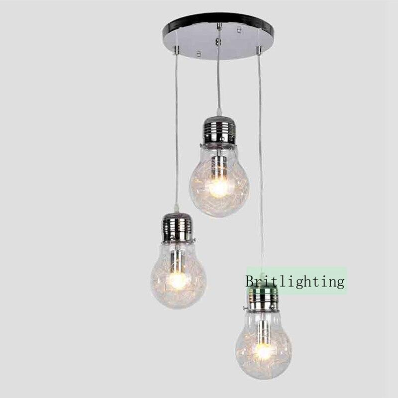 Grande ampoule pendentif lumières lampe créative moderne pendentif LED lampe Restaurant Bar allée lumière couloir verre pendentif éclairage intérieur