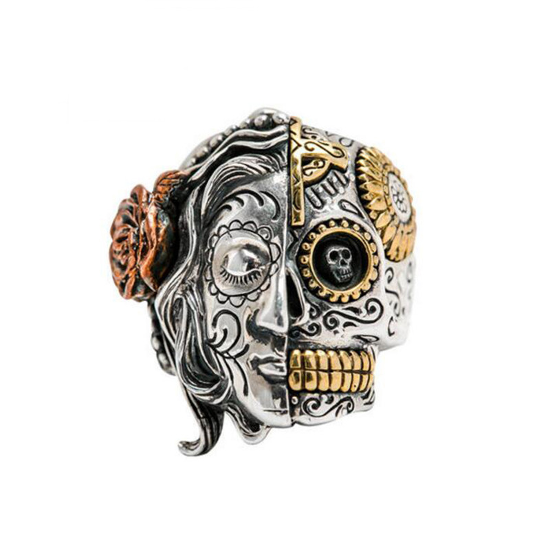 True Face Lucifer Season 2: PUNK Buddha Ring 100% Real 925 Sterling Silver Two Face