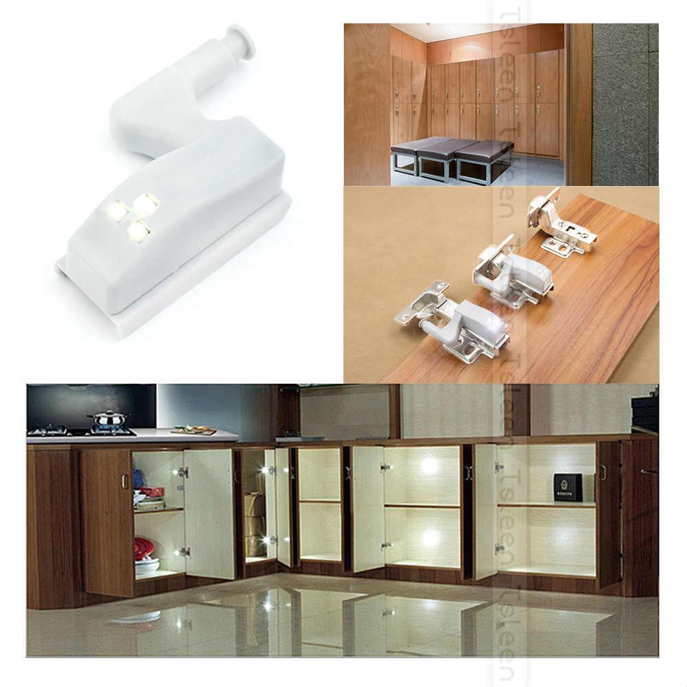 1 4 8 16pcs 0.2W Kitchen Bedroom Living Room Cabinet Cupboard Closet Wardrobe Hinge LED Sensor Light DIY Night Lamp Cool White