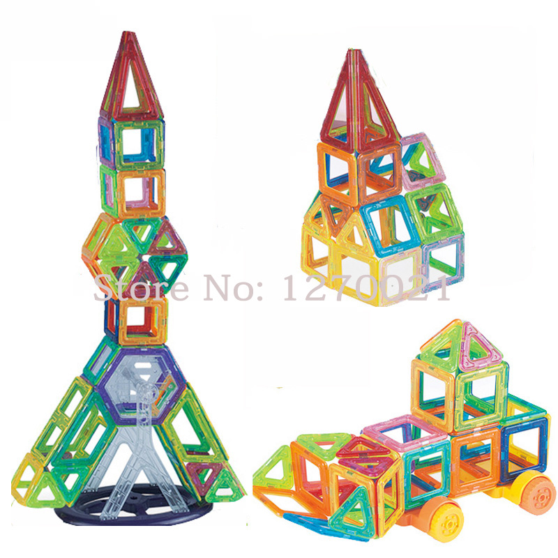 Teenagers Team Building Toys : Pcs mini magnetic construction building blocks set model