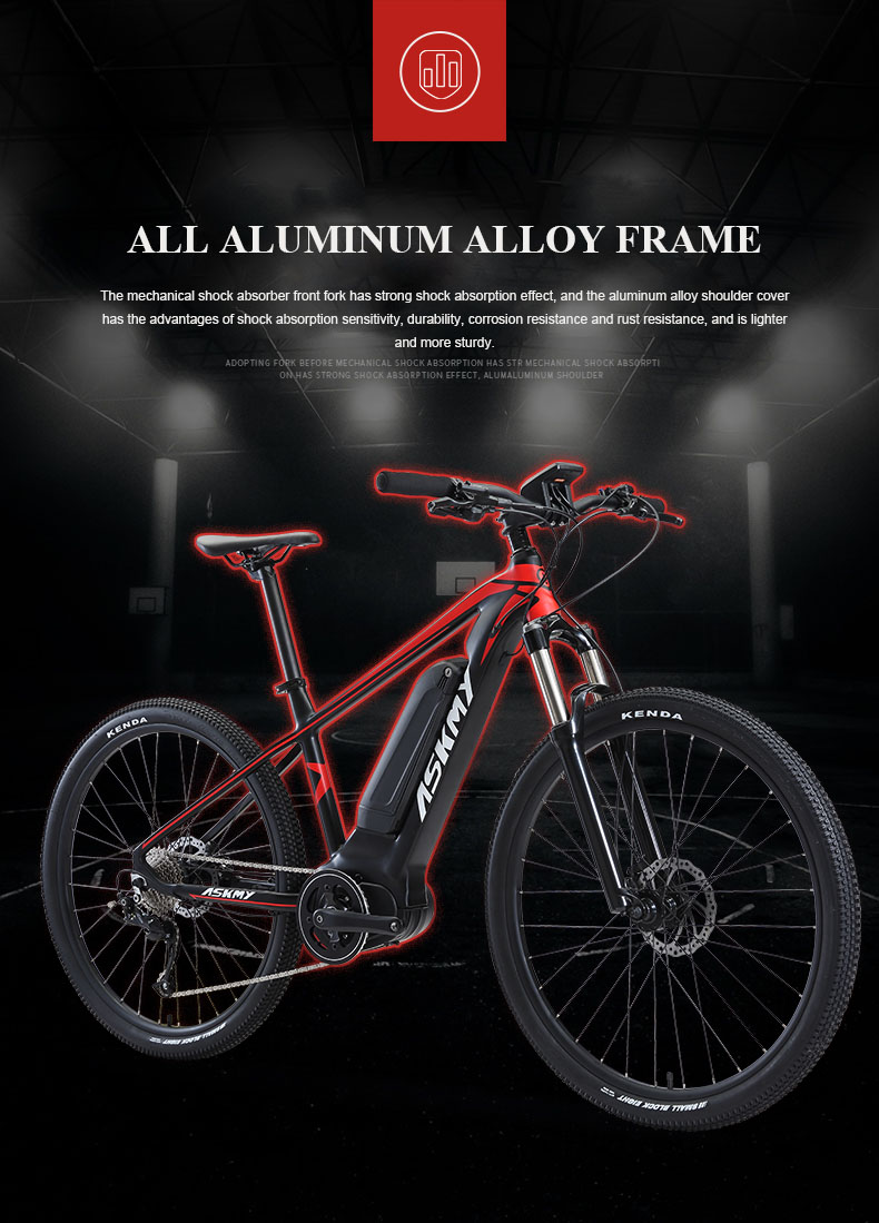 HTB1P4seXyzxK1Rjy1zkq6yHrVXaq - 27.5inch electrical mountian bicycle 36V250W bafang mid-motor Hybrid bike electrical e-bike 9speed EMTB good LCD Off-road bicycle