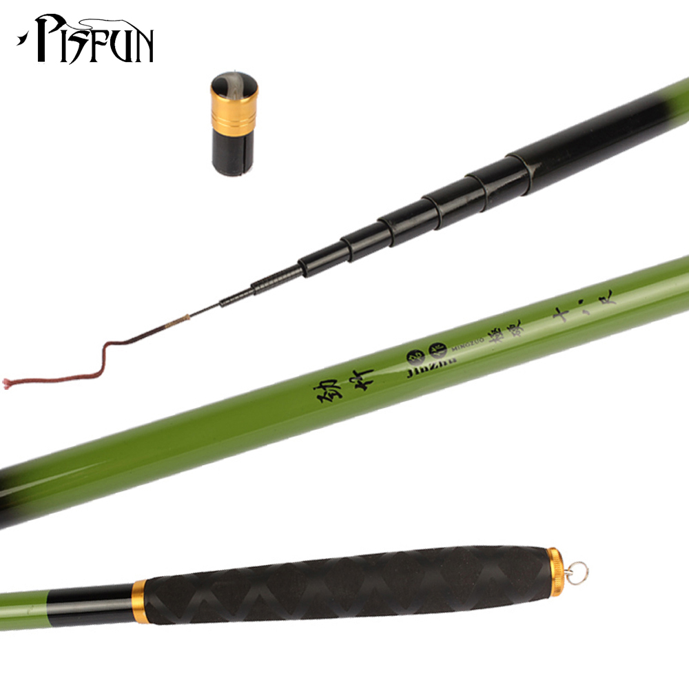 Pisfun 3 6m 7 2m telescopic carbon fishing rod feeder carp for Best telescoping fishing rod
