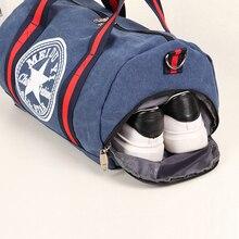 e46c3d4f2dad Roadfisher Women Men Canvas Handbag Sport Gym Training Bag Dance Barrel  Shoes Bag Basketball Carry Weekend