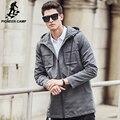Пионерский Лагерь Траншеи Пальто Мужчины марка одежда высочайшее качество Пальто мужчина Одежда С Длинным ветровка Куртки и Пальто 611312
