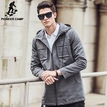 Pioneer Camp Homens do Revestimento de Trincheira roupas de marca top qualidade Roupas Trincheira Casaco masculino Longo windbreaker Casacos & Coats 611312(China (Mainland))