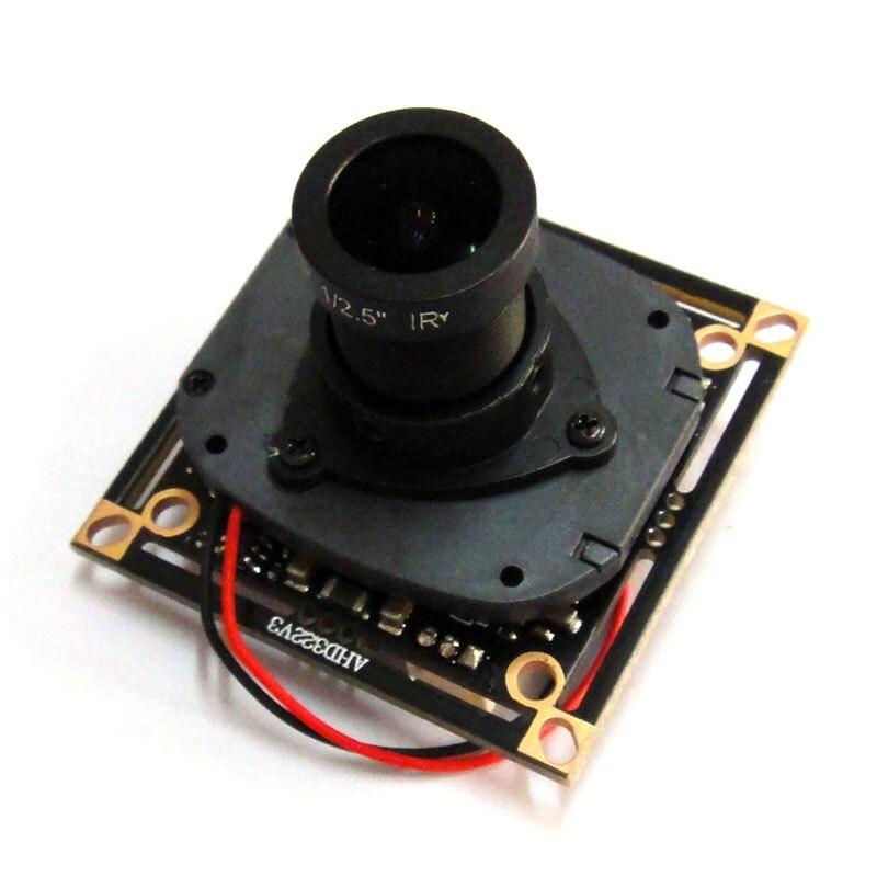 HD 1080 P AHD 1/2. 9 Sony IMX322 + NVP2441 Starlight Faible éclairage carte de cctv module de caméra PCB, lentille ircut câble