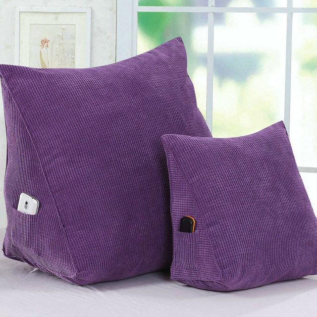 Waist Rest Trigon Back Cushion For Office Chair Sofa Pillow Design Large Medium Size