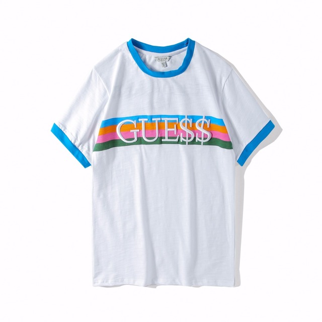 40cb3af4c Guess Money embroidery T Shirt Hip Hop Tshirts men Short Sleeve Casual Top  Cotton