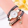 O mance Couro Novo Estilo de Moda Casual Pulseira Relógio de Pulso Mulheres Se Vestem Relógios Pulseira De Couro Longo Assistir presente relogio