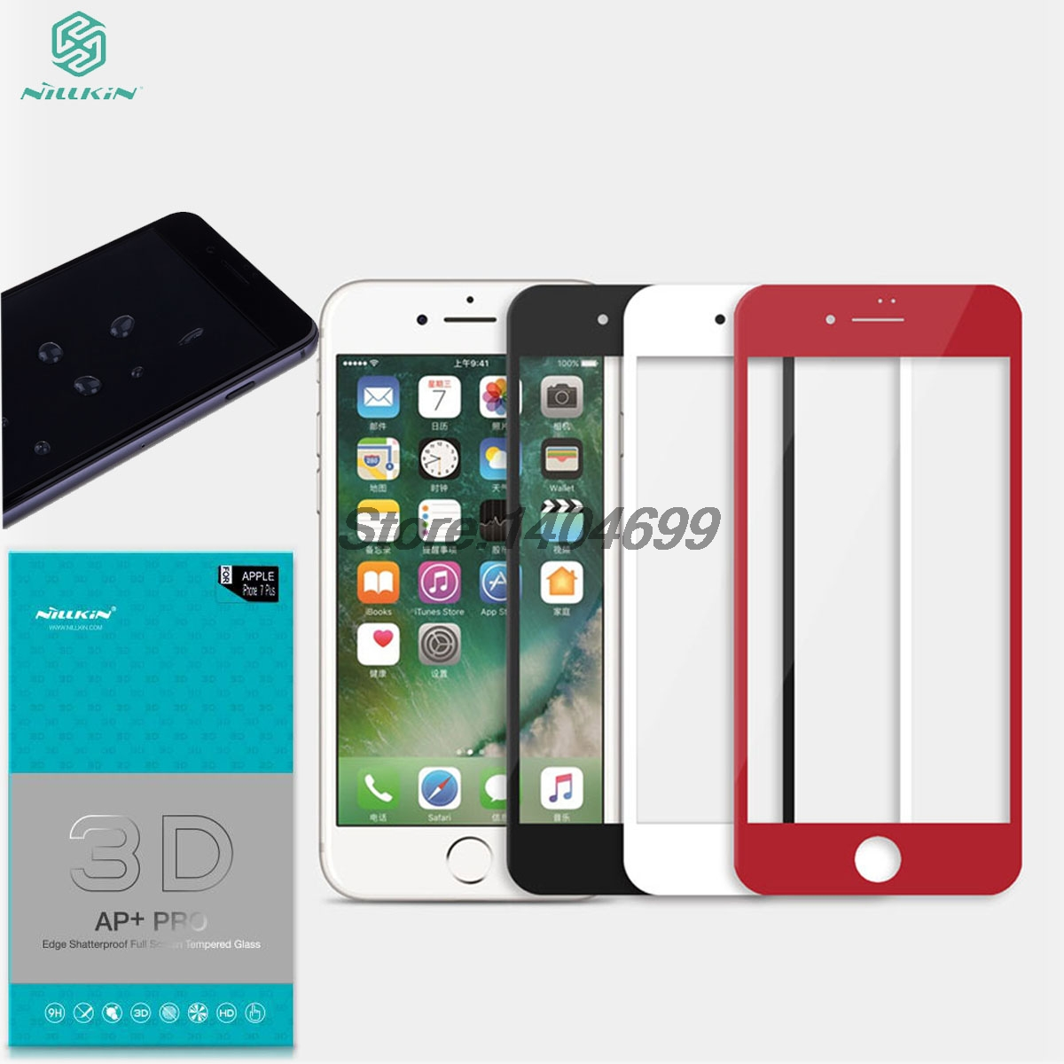 SFor Apple iPhone 7/8 Plus Gehärtetem Glas 5,5 zoll Nillkin 3D AP + PRO Hafenpersenning Schirmschutz Für iPhone 7/8 4,7 zoll