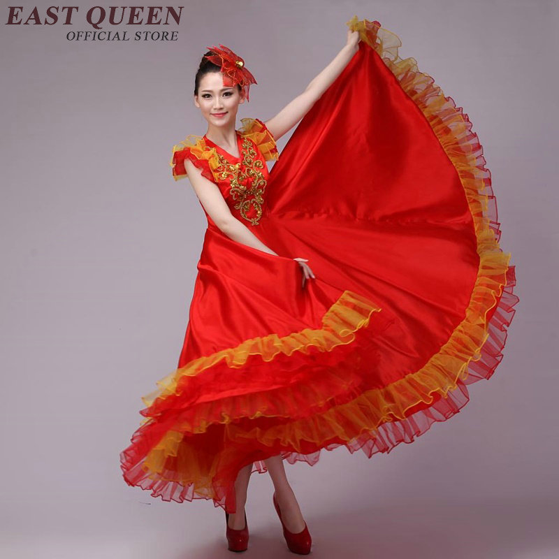Wholesale Chinese folk dance traditional Chinese dance costumes asian  ethnic dance dress plus size 3xl 4xl AA3003 YQ-in Chinese Folk Dance from  Novelty ...
