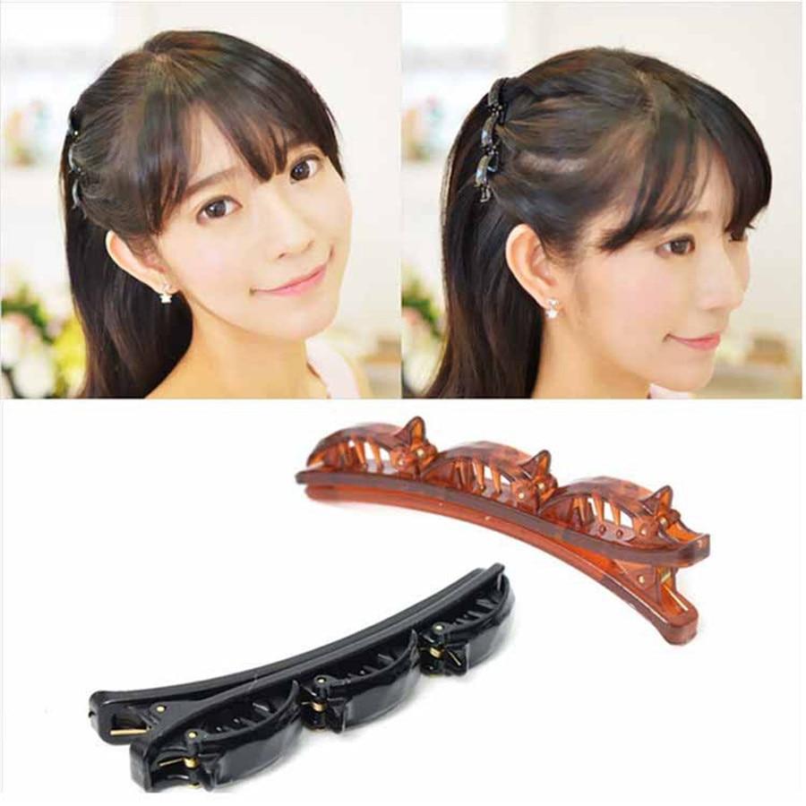 3 vnt Nauji mados mergaičių moterys dvigubi plaukai pin plaukų plaukų klipai barrette šukos kirpyklų disko dovanos plaukų aksesuarai stiliaus įrankiai