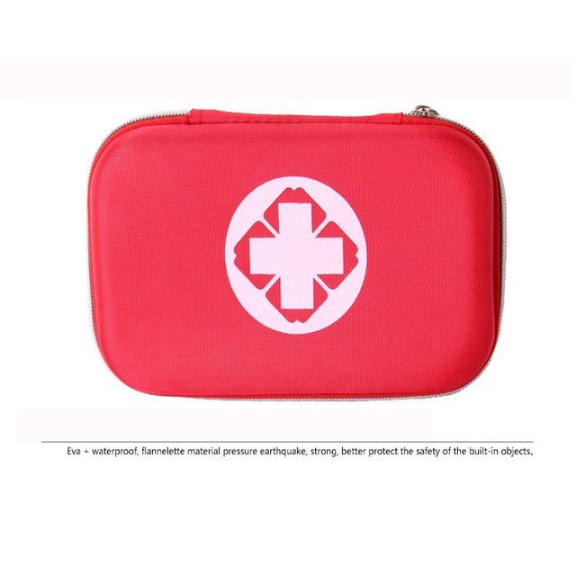 Black And Red Color First Aid Kits Portable 4