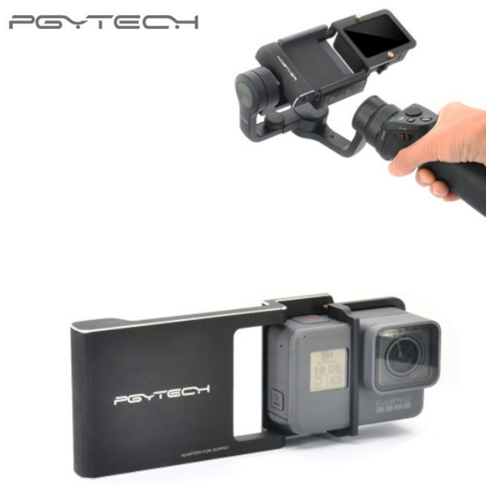 PGYTECH PGY Gopro Hero 5 4 3+ accessories Adapter switch mount plate for DJI osmo mobile phone gimbal Camera zhiyun smooth q