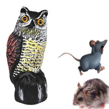 Owl Anti pest reject repeller trap pest control Large Realistic Owl Decoy Rotating Head Weed Pest Control home decoration