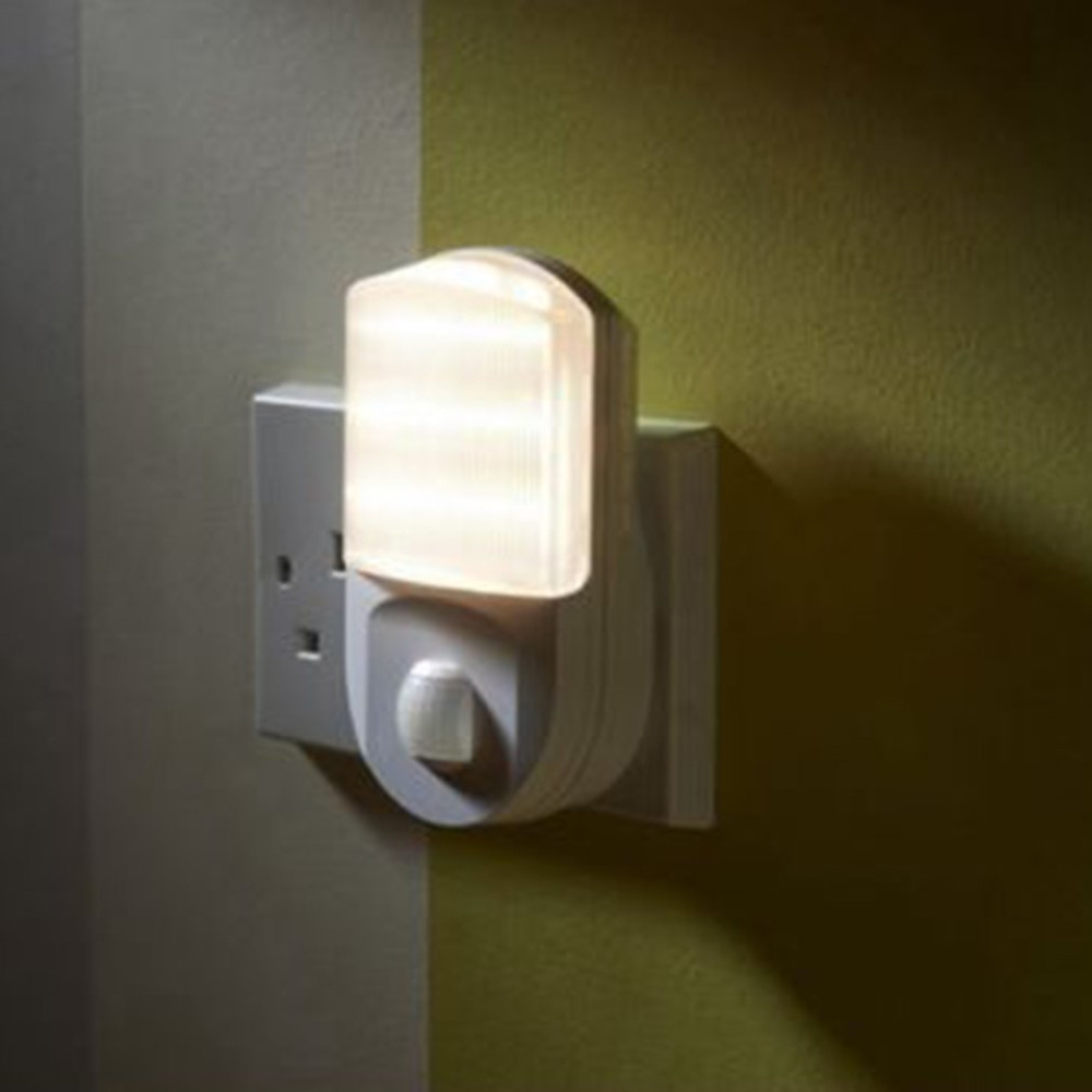 Us 4 55 20 Off Plug In Pir Motion Sensor Light Hallway Socket Led Night Portable Safety For Bedroom Walkway Lights From