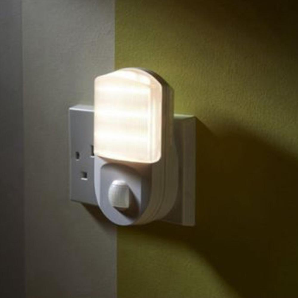 Plug In PIR Motion Sensor Light Hallway Socket LED Night Light Portable Safety Light For Bedroom Walkway