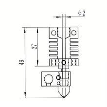 Новый цельнометаллический комплект экструдера cr10 175 мм сопла