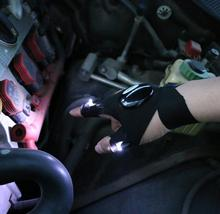 DHL Freies Beleuchtung handschuh Nacht auto reparatur handschuh led licht Nacht angeln lampe handschuh hängen köder lampe nacht angeln lieferungen
