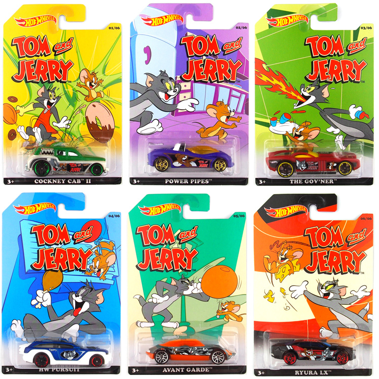 Faithful Free Shipping 2016 New Tom&jerry 1:64 Alloy Small Car Wheels Baby Toy Set Of 6 Classic Cartoon Special Type For Collection