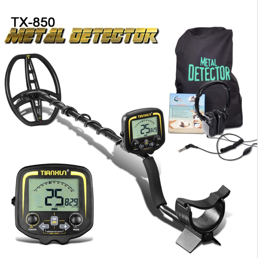 TX-850 Professional Metal Detector 2.5m Underground Depth Scanner Finder Gold Detector Treasure Hunter Detecting Pinpointer(China)