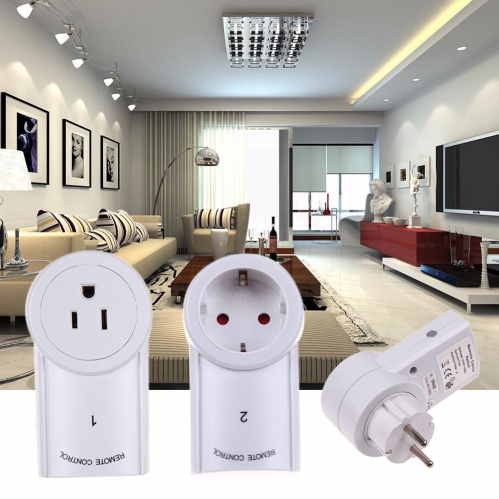 ALLOYSEED 3pcs/lot EU/US Socket Wireless Remote Control Power Outlet Light Switch Plug Smart Home Remote Switcher Outlet Socket