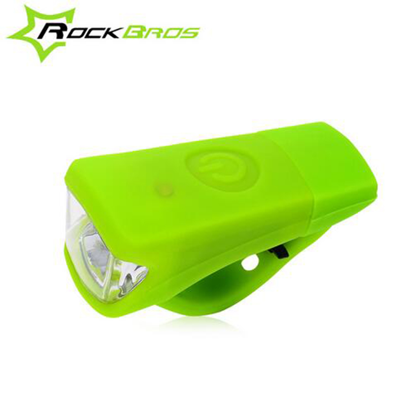 Rockbros USB Rechargeable Cycling Light Front Silicon Gel Waterproof LED Bicycle Light MTB Light Bulbs Night Safe Riding LT0066 rockbros bicycle spoke light