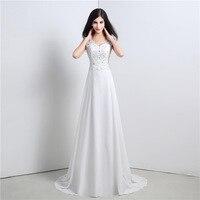 Elegant Simple Beach Wedding Dress Casual V Neck Chiffon Floor Length Boho Wedding Gowns Bride Dresses Robe De Mariage