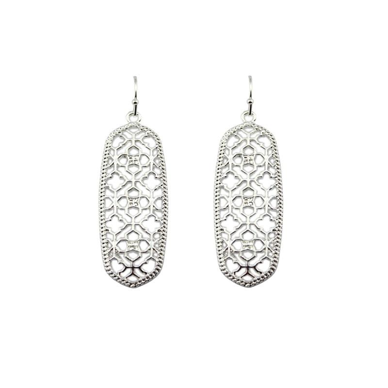 4 цвета,, хит, бренд, дизайнерские, вдохновленные, выдолбленные Висячие серьги-капли для женщин, серьги-капли с монограммой - Окраска металла: Silver