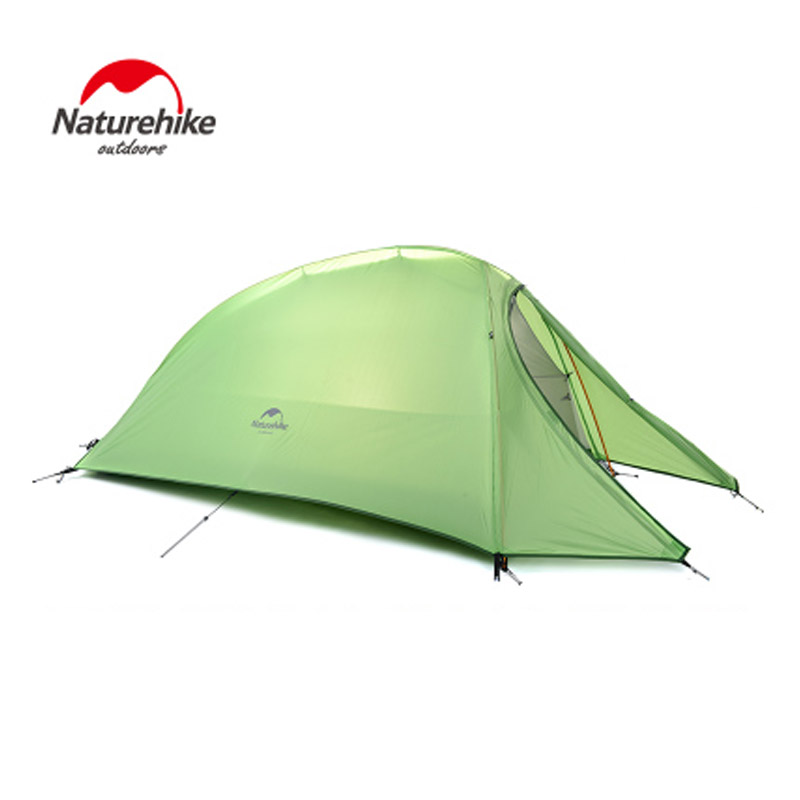 Naturehike NH15T001-T single people Tent  CloudUp Series Ultralight Hiking Tent 20D/210T Fabric For a Person With Mat easy use high quality outdoor 2 person camping tent double layer aluminum rod ultralight tent with snow skirt oneroad windsnow 2 plus