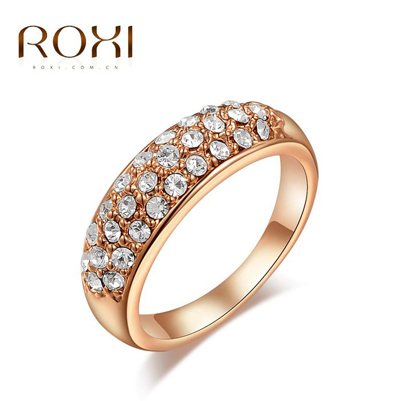 aliexpresscom buy roxi fashion imitation diamond rings cz engagement ring crown girl love stone wedding rings bijoux women bagues costume jewelry from - Girl Wedding Rings