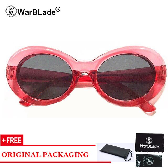 Gafas de sol de Kurt Cobain transparentes cristales transparentes Vintage NIRVANA ovalado gafas de sol clásicas de moda
