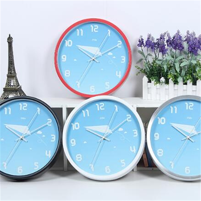2016 Neue Chinesische Große Wanduhr Uhr Schmiedeeisernen Wanddekorationen  Horloge Kinder Kinderzimmer Stille Wanduhr Moderne DDN242