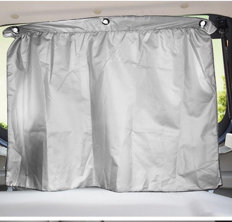 Dva natovarena sjenila zavjesa za auto univerzalna automobilska krema - Vanjska auto oprema - Foto 2