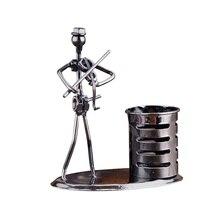 Металлический кованый железный держатель для ручки офисный Настольный модный Декор для хранения украшения креативный студенческий канцелярский подарок ремесла