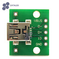 2PCS Mini USB interface to 2.54mm DIP 5P Adapter Module for Breadboard DIY Projects