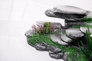 Image 5 - Mr. Serbatoio di Grandi Dimensioni Mountain View Rettile Rocaille Decorazioni Artificiale Acquario di Pietra Grotta Albero Turtoises Arrampicata Terrazza Da Tavolo