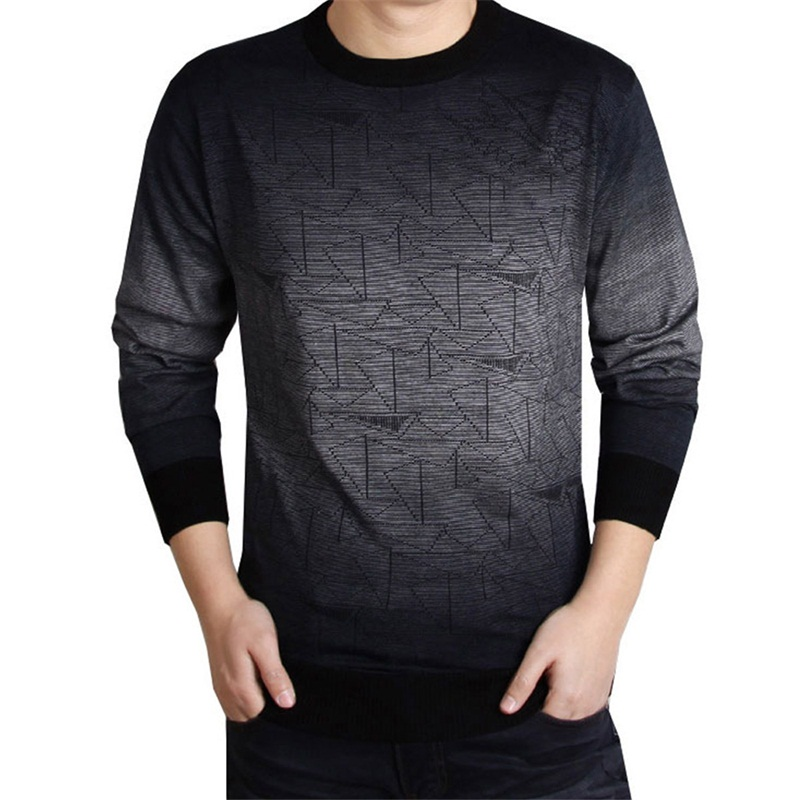 Casual Marke gestrickte Pullover Männer weihnachten schlank strickwaren winter männlichen sweter Oansatz muster pullover pullover ziehen homme grau