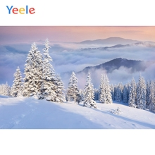 Yeele Landscape Bedhead Winter Snow Mountain Trees Photography Backdrops Personalized Photographic Backgrounds For Photo Studio