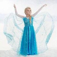 High Quality Customs Wedding Dress Baby Girls Dress Fantasia Vestidos Kids Infants Dress Girls Anna Christmas