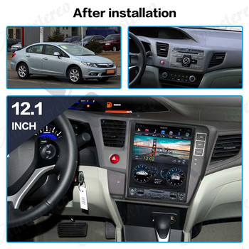 "Aotsr Tesla 10.4"" Android 8.1 Vertical screen Car DVD Multimedia player GPS Navigation For Honda Civic 2012-2015 carplay"