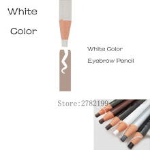 HOT Sale White Pencil Microblading Eyebrow Pencil Waterproof Marker Pen Peel-off Soft Coloured eyebrow Free shipping
