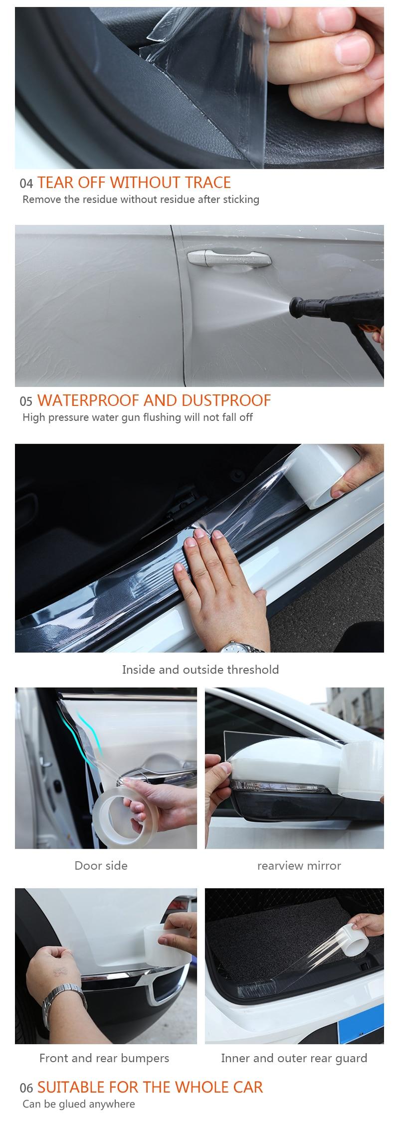 Clear Car Transparent Door Edge Guard Protector Film Scratch Sticker Durable 1pc