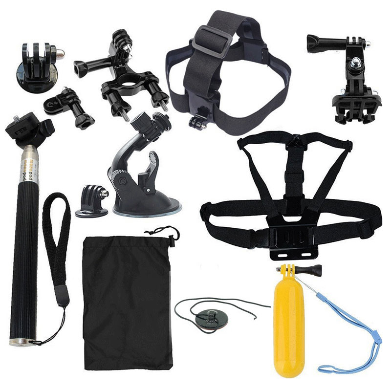 Tekcam Action Camera accessories Set for Gopro Hero 5 4 SJCAM SJ6 Legend Xiaomi YI 4K