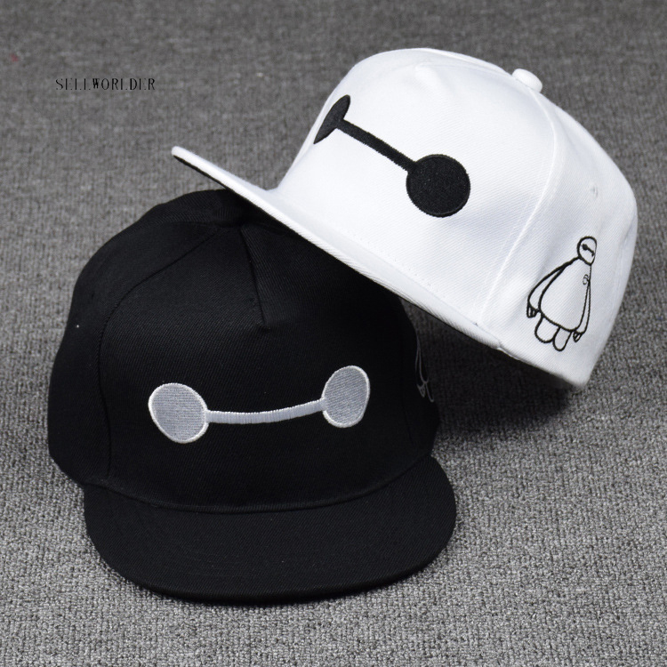 SELLWORLDER Adults & Kids 3Style Big hero 6 Baymax Baseball Caps 2018 Cartoon Character Hats & Caps
